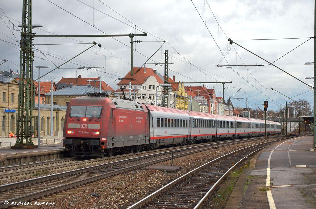 101 064 Mit Ic 118 Von Ulm Nach Stuttgart Durch Esslingen