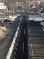 kirchheim-teck/45803/blickrichtung-bahnhof-kirchheim-mit-neugestaltetem-gleis Blickrichtung Bahnhof Kirchheim mit neugestaltetem Gleis 1/2 nach Oberlenningen am 15.11.2008
