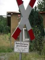 Kurioses und Seltenes Fotos/46447/interessante-oeffnungszeiten-des-bahnueberganges-in-kamenz Interessante Öffnungszeiten des Bahnüberganges in Kamenz Bahnübergang Stiftstraße. (12.08.2008)