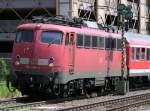 br-110-bugelfalte/51700/kbs-750-r1-110-484-3-mit KBS 750, R1, 110 484-3 mit RB 19208 aus Geislingen(Steige) nach Stuttgart mit Zwischenhalt in Plochingen (28.04.2004)