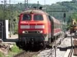 218 204/59984/rb13945-mit-218-204-6-in-wendlingen RB13945 mit 218 204-6 in Wendlingen nach Oberlenningen. (19.05.2009)